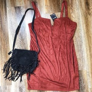 Forever 21 | NWT Rust Faux Suede Mini Dress